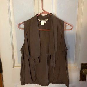 Silk ruffled vest